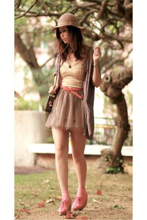 brown H&M shirt - eggshell wwwclubcouturecc dress