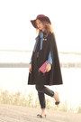 Black-house-of-v-coat-navy-chicwish-shirt-eggshell-miu-miu-heels