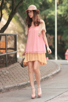 beige Christian Louboutin pumps - light yellow moolstory company skirt