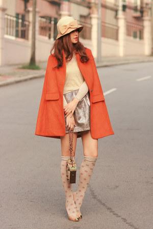skirt - cape - heels