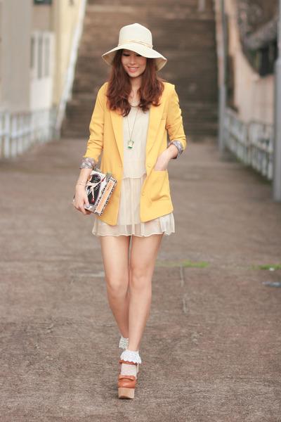 yellow Yesstyle blazer - tawny Opening Ceremony heels