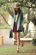 tawny Opening Ceremony heels - sky blue wwwyesstylecom blazer - cream H&M socks
