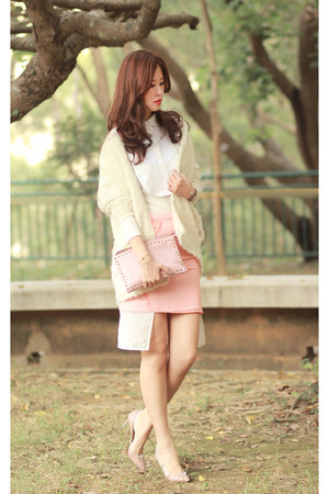 white the layers accessories - ivory romwe cardigan