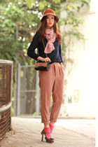 pink Chloe bag - navy Yesstyle sweater - light pink Modekungen scarf