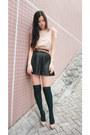 Cream-mango-blouse-black-zara-skirt-neutral-christian-louboutin-shoes