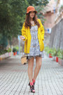 Heather-gray-gia-london-dress-yellow-h-m-cardigan