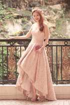 peach 1618 couture & bridal dress - maroon Ipa Nima bag