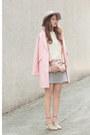 Light-pink-tout-a-coup-blazer-salmon-the-layers-socks