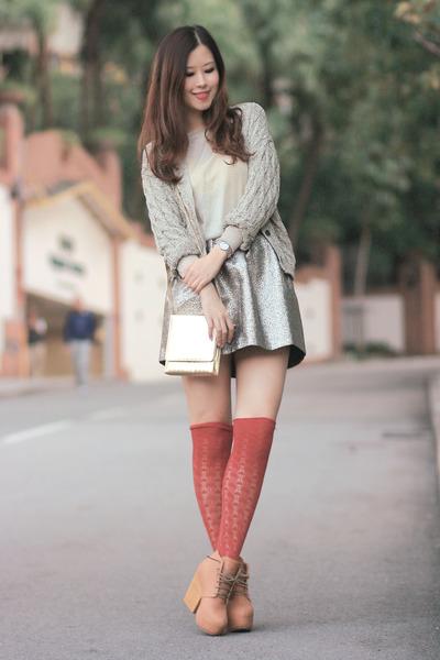 bronze Yesstyle skirt - tan from laurustinus heels