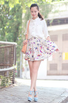 amethyst Chicwish skirt - ivory Chicwish shirt - yellow Chicwish bag
