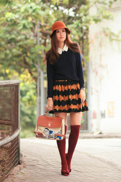 tawny asian icandy bag - navy Yesstyle sweater