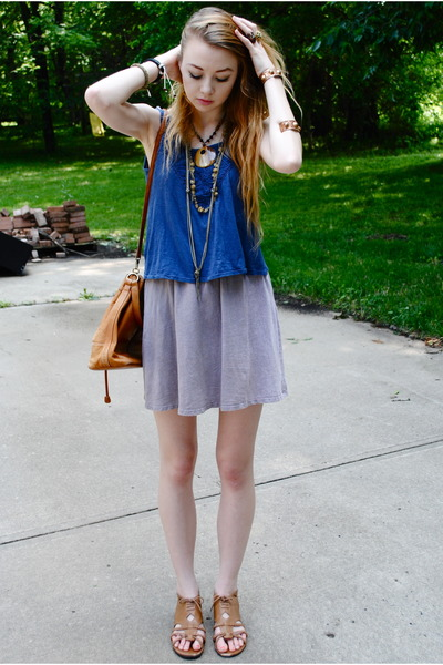 Urban Outfitters top - Urban Outfitters dress - Urban Outfitters sandals