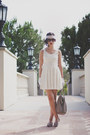 White-forever-21-dress-heather-gray-h-m-bag