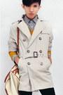 Dark-brown-slip-on-giogio-armani-shoes-beige-trench-coat-zara-coat