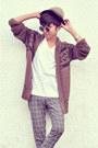 Camel-fedora-h-m-hat-heather-gray-zara-pants-ivory-zara-t-shirt