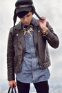 Black-h-m-jacket-sky-blue-denim-shirt-luckybrand-shirt
