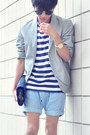 White-jnby-blazer-sky-blue-zara-kids-shorts