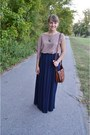 Maxi-skirt-forever-21-skirt-asymmetrical-threadsence-dress-h-m-bag