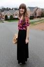 Tan-vintage-blazer-pink-flower-walmart-top-black-h-m-skirt-silver-appepazz