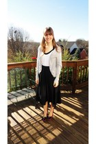heather gray American Eagle cardigan - white Trixxi top - black Made by a friend