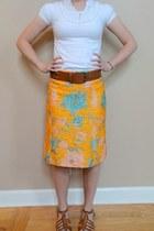 gold floral Miu Miu skirt