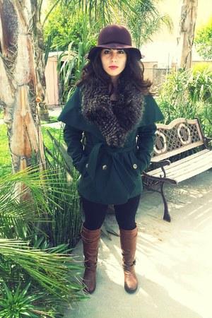 Steve Madden coat - zipper boots Madden Girl boots - hat