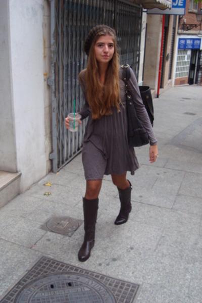 hat - Zara shoes - MSK purse - Zara dress