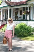 sally jane vintage shorts - sally jane vintage blouse - vintage purse - h&m via