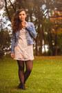 Light-pink-lace-h-m-dress-sky-blue-denim-h-m-jacket