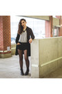 Black-leather-aldo-boots-black-velvet-thrifted-jacket