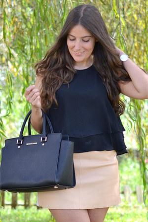 Zara top - Michael Kors bag - Zara skirt