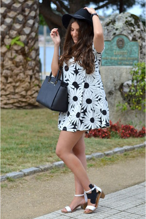 milanoo dress - pull&bear hat - Michael Kors bag