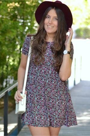 H&M dress - Parfois hat - Mango bag - Zara sandals