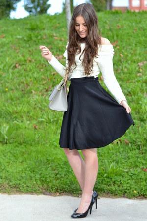 Sheinside skirt - Sheinside sweater - purificación garcía bag - Zara heels