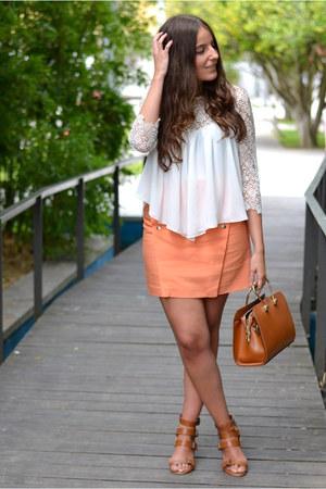 Zara skirt - seekmoon bag - Zara sandals - Zara blouse