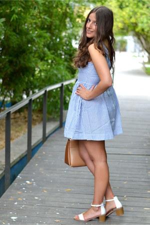 Sheinside dress - purificación garcía bag - Zara sandals