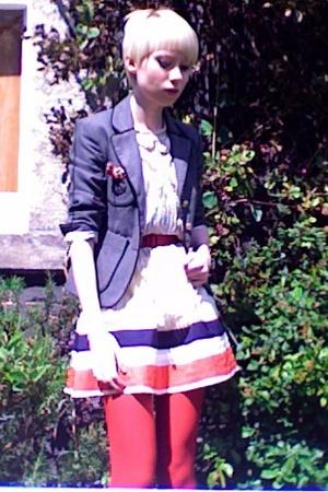 Topshop blazer - Topshop blouse - Topshop skirt - vintage belt