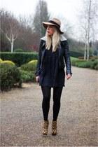 leopard print Zara boots - smock dress asos dress