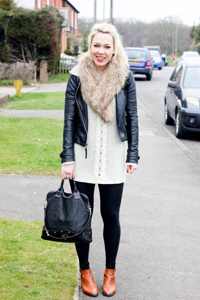 acton Topshop boots - holly Mulberry bag - Monki jumper
