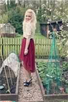 Sheinside skirt - Marni heels - moss blouse virgos lounge blouse