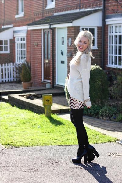 sequins lavish alice skirt - knitted Monki jumper
