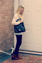 mint denim H&M shorts - acton Topshop boots - holly Mulberry bag