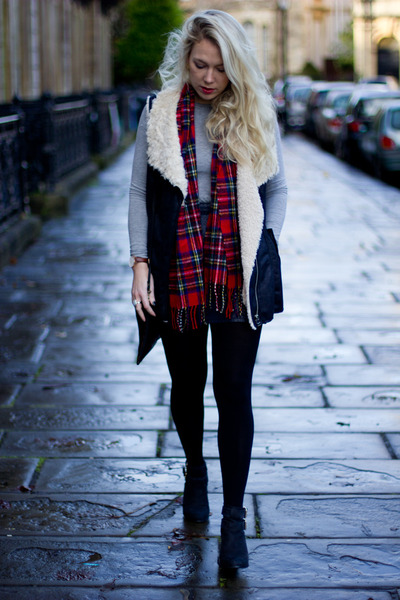 shearling gilet Zara jacket