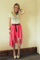FunkyDiva skirt - lace Primark top - stack rings Stack Rings ring