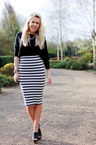 Choies skirt - Marni shoes - Zara top
