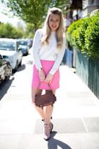 pink skirt Zara skirt