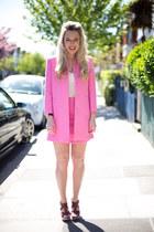 pink jacket Zara jacket - pink skirt Zara skirt