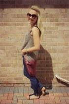 Primark blouse - Zara jeans