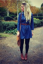 Topshop dress - suede Steve Madden bag