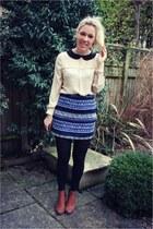 blouse mina shirt - embroidered Zara skirt